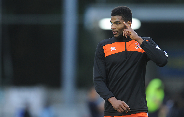 Blackpool's Michael Nottingham during the pre-match warm-up <br /> <br /> Photographer Kevin Barnes/CameraSport<br /> <br /> The EFL Sky Bet League One - AFC Wimbledon v Blackpool - Saturday 29th December 2018 - Kingsmeadow Stadium - London<br /> <br /> World Copyright © 2018 CameraSport. All rights reserved. 43 Linden Ave. Countesthorpe. Leicester. England. LE8 5PG - Tel: +44 (0) 116 277 4147 - admin@camerasport.com - www.camerasport.com