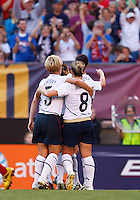 22 MAY 2010:  USA's Lori Lindsey #5, USA's Amy Rodriguez  #8 during the International Friendly soccer match between Germany WNT vs USA WNT at Cleveland Browns Stadium in Cleveland, Ohio. USA defeated Germany 4-0 on May 22, 2010.