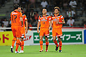 Shimizu S-Pulse team group,JULY 16, 2011 - Football :Shinji Ono (2nd R) of Shimizu S-Pulse celebrates with his teammate Yasuhiro Hiraoka (R) after scoring their fitst goal during the 2011 J.League Division 1 match between Shimizu S-Pulse 2-1 Albirex Niigata at OUTSOURCING Stadium Nihondaira in Shizuoka, Japan. (Photo by AFLO)