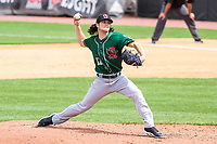 Great Lakes Loons pitcher Riley Ottesen (11) delivers a pitch during a Midwest League game against the Wisconsin Timber Rattlers on May 12, 2018 at Fox Cities Stadium in Appleton, Wisconsin. Wisconsin defeated Great Lakes 3-1. (Brad Krause/Four Seam Images)