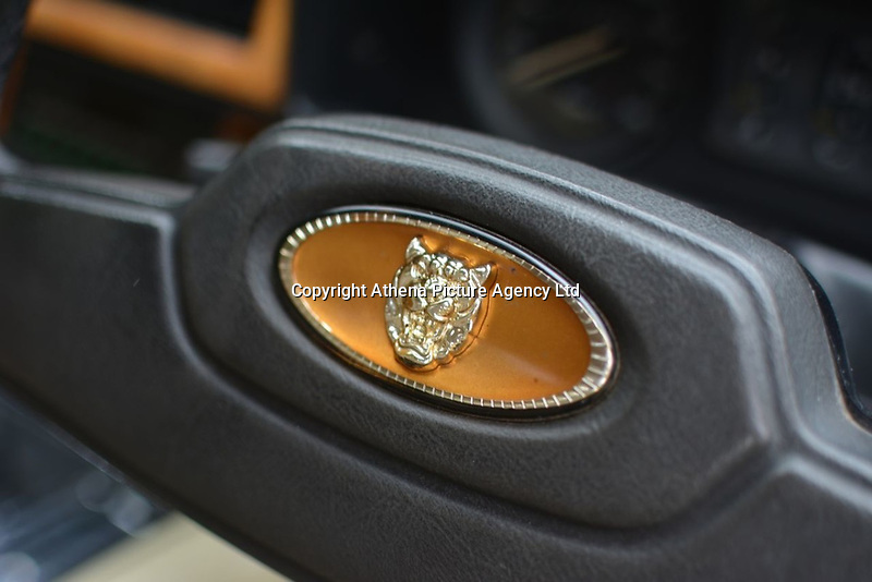 "Pictured: The emblem on the steering wheel of the Jaguar up for auction, once owned by Eamonn Holmes<br /> Re: A luxury open-top car sold by TV's Eamonn Holmes to pay off his ""massive"" tax bill is up for grabs at auction.<br /> The host of Good Morning Britain bought the 5.3 litre Jaguar when he was earning big bucks with the BBC.<br /> But Eamonn was made redundant and at the same time he was hit with an £11,000 demand from the Inland Revenue.<br /> The car was costing him a fortune to run - it did under 15mpg.<br /> After paying a whopping £36,000 for the Jaguar XJSC, Eamonn flogged it for just £8,000 a year later.<br /> The car has an identical price tag at auction almost 30 years later.    <br /> Eamonn, 57, told how he got shot of the Jag when the 1990 Gulf War sparked a big hike in fuel prices.<br /> He said: ""Cars are my weakness - in 1989 I bought a British Racing Green Jaguar.<br /> ""I paid £36,000 in March 1989 then in early 1990 the Gulf War broke out."