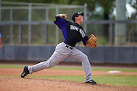 Colorado Rockies pitcher Peter Lambert (75) during an instructional league game against the SK Wyverns on October 10, 2015 at the Salt River Fields at Talking Stick in Scottsdale, Arizona.  (Mike Janes/Four Seam Images)