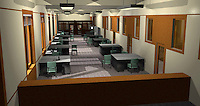 Quick 3D model of the location being used for the police precinct.