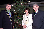 Mayor Sean Collins, Deirdre Seery, Matron and Jimmy Mulroy at the switching on of the Christmas lights in St. Mary's hospital..Picture Paul Mohan Newsfile