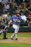 Frisco RoughRiders first baseman Ronald Guzman (31) at bat during a game against the Corpus Christi Hooks on April 23, 2016 at Whataburger Field in Corpus Christi, Texas.  Corpus Christi defeated Frisco 3-2.  (Mike Janes/Four Seam Images)
