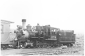 3/4 fireman's-side view of D&amp;RGW #278 coupled behind a caboose, perhaps at Gunnison.<br /> D&amp;RGW  Gunnison ?, CO  Taken by Thode, Jackson C.