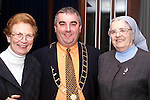 Sr. Philomena Sheeran, Mayor of Drogheda Sean Collins and Sr. Rosaleen Levins at the launch of the new book in the MMM's on Thursday night..Picture Paul Mohan Newsfile