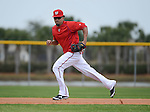 VIERA, FL-  FEBRUARY 26:  Shortstop Ian Desmond of the Washington Nationals fields ground balls during the Washington Nationals Spring Training at Space Coast Stadium in Viera, FL (Photo by Donald Miralle) *** Local Caption ***