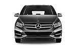 Car photography straight front view of a 2016 Mercedes Benz B-Class Inspiration 5 Door Mini MPV Front View