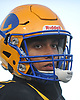 Carlos Duran #2 of Lawrence heads to the sideline during the Nassau County Conference III varsity football semifinals against Bethpage at Hofstra University on Saturday, Nov. 11, 2017.