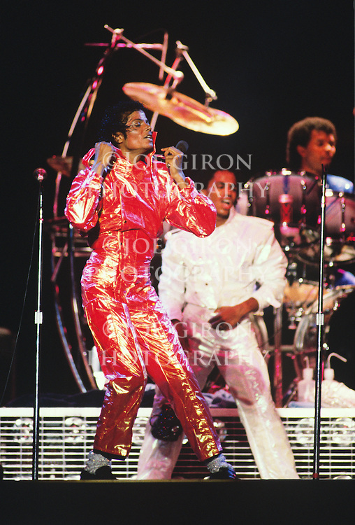 "Michael Jackson performs during the 1984 ""Victory"" Tour."