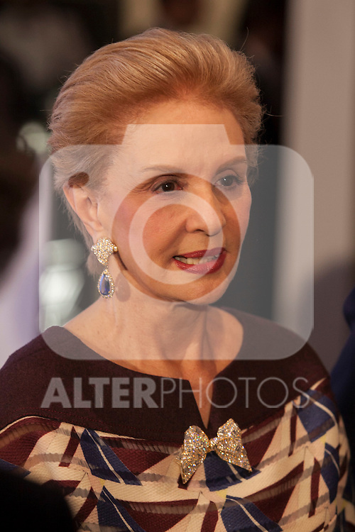 Carolina Herrera poses during the 'HUBERT DE GIVENCHY' exhibition inauguration at THYSSEN-BORNEMISZA museum in Madrid, Spain. October 20, 2014. (ALTERPHOTOS/Victor Blanco)