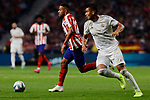 Renan Lodi of Atletico de Madrid and Carlos Henrique Casimiro of Real Madrid during La Liga match between Atletico de Madrid and Real Madrid at Wanda Metropolitano Stadium{ in Madrid, Spain. {iptcmonthname} 28, 2019. (ALTERPHOTOS/A. Perez Meca)