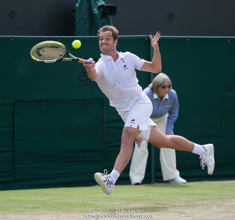 RICHARD GASQUET (FRA)<br /> <br /> The Championships Wimbledon 2014 - The All England Lawn Tennis Club -  London - UK -  ATP - ITF - WTA-2014  - Grand Slam - Great Britain -  26th June 2014. <br /> <br /> &copy; AMN IMAGES