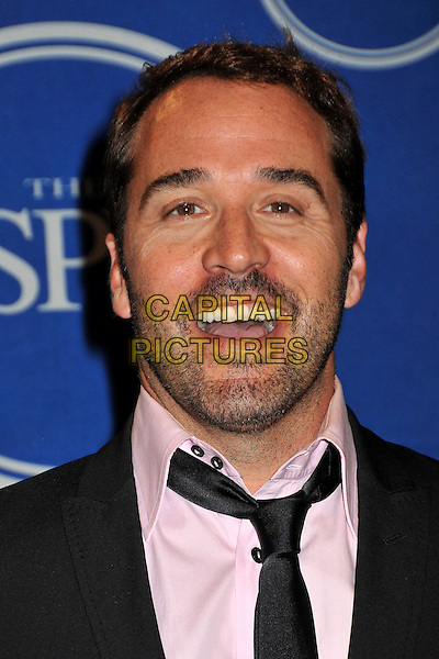JEREMY PIVEN .17th Annual ESPY Awards - Press Room held at Nokia Theatre LA Live, Los Angeles, CA, USA, 15th July 2009..portrait headshot beard facial hair stubble black tie pink shirt mouth open funny espys .CAP/ADM/BP.©Byron Purvis/Admedia/Capital Pictures