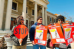 """We the People Save our Waters Coalition"" holds rally to stop the long-term lease of our Sewage Treatment Plants. At Nassau County Legislative Building, Mineola, New York, USA, on February 27, 2012. © 2012 Ann Parry, Ann-Parry.com"