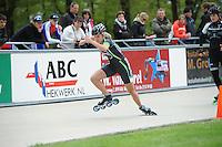 INLINE-SKATEN: HEERDE: Skeeler- en Skatecentrum Hoornscheveen, Europa Cup/Univé Skate Off, 05-05-2012, Bianca Roosenboom (#17), ©foto Martin de Jong