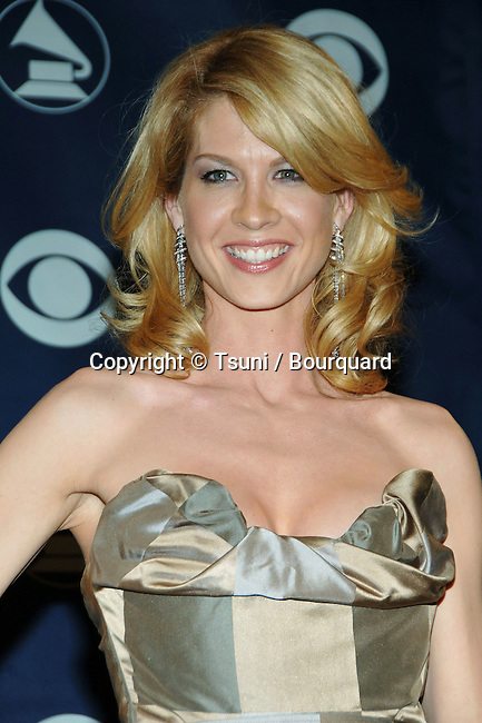Jenna Elfman backstage at the 48th Grammy Awards at the  Staples Center In Los Angeles, Wednesday February 8, 2006