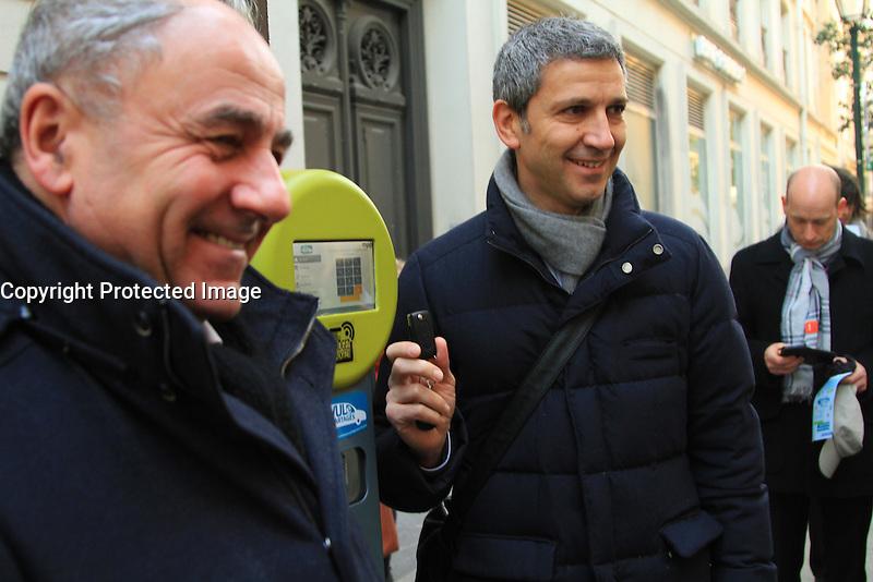 Jeanlouis Missika, Christophe Najdovski - LANCEMENT DE L'AUTOPARTAGE DE VULE POUR LES PROFESSIONELS PARISIENS
