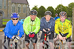 Getting ready at start of the Ring of Kerry cycle in Killarney Saturday morning Richard Ford, Neil Dowd Abbeydourney, Aidan Buckley Listry and Fionn Foley Blennerville .