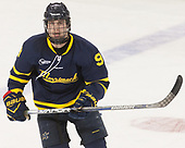 Jace Hennig (Merrimack - 9) - The visiting Merrimack College Warriors defeated the Boston College Eagles 6 - 3 (EN) on Friday, February 10, 2017, at Kelley Rink in Conte Forum in Chestnut Hill, Massachusetts.