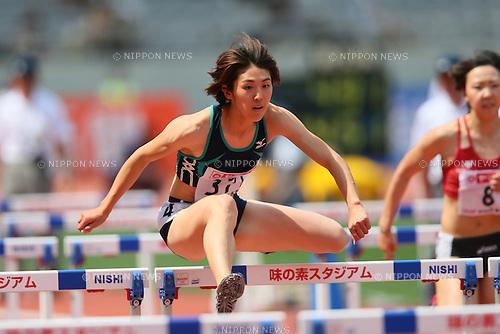 Hitomi Shimura (JPN), <br /> JUNE 8, 2013 - Athletics : <br /> The 97th Japan Track &amp; Field National Championships <br /> Women's 100mH <br /> at Ajinomoto Stadium, Tokyo, Japan. <br /> (Photo by YUTAKA/AFLO SPORT)