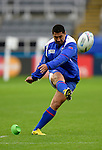 ENG - Newcastle upon Tyne, England, October 08: During the Captains Run of Samoa on October 8, 2015 at St. James Park in Newcastle upon Tyne, England. (Photo by Dirk Markgraf / www.265-images.com) *** Local caption *** Patrick Faapale