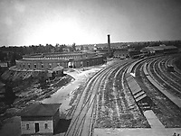 Roundhouse, Chattanooga Railroad, Atlanta.  1864.  George N. Barnard.  (War Dept.)<br /> Exact Date Shot Unknown<br /> NARA FILE #:  165-C-714<br /> WAR &amp; CONFLICT BOOK #:  210