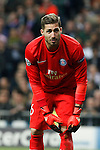 Paris Saint-Germain´s Kevin Trapp during Champions League soccer match between Real Madrid  and Paris Saint Germain at Santiago Bernabeu stadium in Madrid, Spain. November 03, 2015. (ALTERPHOTOS/Victor Blanco)