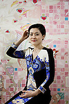 Tokyo, January 30 2013 - Portrait of Japanses artist and calligrapher Sisyu at her atelier.