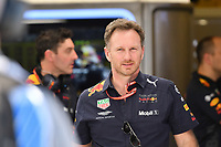 March 23, 2018: Christian Horner from the Aston Martin Red Bull Racing team walks to a camera for an interview during practice session two at the 2018 Australian Formula One Grand Prix at Albert Park, Melbourne, Australia. Photo Sydney Low