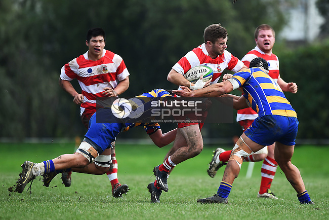 NELSON, NEW ZEALAND - JUNE 25: Division 1 Club Rugby Wanderers v Wamiea Old Boys, Brightwater Domain on June 25, 2016 in Nelson, New Zealand. (Photo by: Chris Symes/Shuttersport Limited)