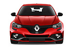 Car photography straight front view of a 2018 Renault Megane R.S. base 5 Door Hatchback