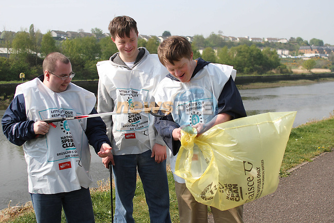 Andrew, Richard and Brendan at the National Spring Clean of the Ramparts with Malta Services....(Photo credit should read Jenny Matthews www.newsfile.ie)....This Picture has been sent you under the conditions enclosed by:.Newsfile Ltd..The Studio,.Millmount Abbey,.Drogheda,.Co Meath..Ireland..Tel: +353(0)41-9871240.Fax: +353(0)41-9871260.GSM: +353(0)86-2500958.email: pictures@newsfile.ie.www.newsfile.ie.