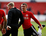 John Fleck of Sheffield Utd warms up during the Championship match at the City Ground Stadium, Nottingham. Picture date 30th September 2017. Picture credit should read: Simon Bellis/Sportimage