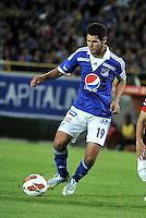 BOGOTA - COLOMBIA - 19-02-2013: Pedro Franco, defensa de Millonarios. Pedro Franco, defense of Millonarios. (Photo: VizzorImage / Luis Ramirez / Staff)..