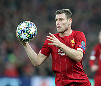 27th November 2019; Anfield, Liverpool, Merseyside, England; UEFA Champions League Football, Liverpool versus SSC Napoli ; James Milner of Liverpool takes a throw-in - Editorial Use