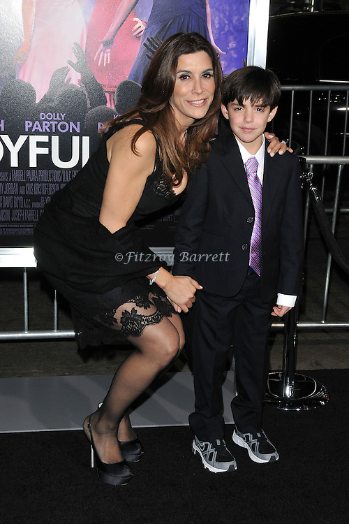 Jo Champa and son Sean at the premiere of Joyful Noise held at Grauman's  Chinese Theatre in Hollywood, CA. January 9, 2012