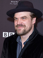 David Harbour attends the BAFTA Los Angeles Awards Season Tea Party at Hotel Four Seasons in Beverly Hills, California, USA, on 06 January 2018. Photo: Hubert Boesl - NO WIRE SERVICE - Photo: Hubert Boesl/dpa /MediaPunch ***FOR USA ONLY***