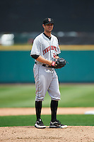 Indianapolis Indians relief pitcher Cory Luebke (36) during a game against the Rochester Red Wings on May 26, 2016 at Frontier Field in Rochester, New York.  Indianapolis defeated Rochester 5-2.  (Mike Janes/Four Seam Images)