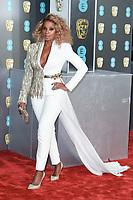 Mary J Blige<br /> arriving for the BAFTA Film Awards 2019 at the Royal Albert Hall, London<br /> <br /> ©Ash Knotek  D3478  10/02/2019