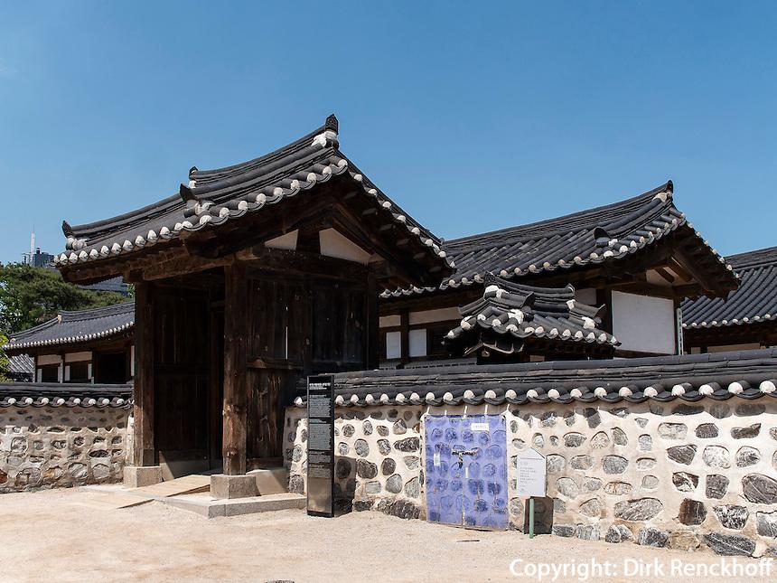 Namsangol Hanok Village in Seoul, S&uuml;dkorea, Asien<br /> Namsangol Hanok Village in Seoul, South Korea, Asia
