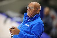 SCHAATSEN: HEERENVEEN: 18-09-2014, IJsstadion Thialf, Topsporttraining, Floor van Leeuwen (trainer Team Continu), ©foto Martin de Jong