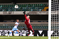 Ciro Immobile of SS Lazio scores a goal during the Serie A football match between Hellas Verona and SS Lazio at stadio Marcantonio Bentegodi in Verona (Italy), July 26th, 2020. Play resumes behind closed doors following the outbreak of the coronavirus disease. <br /> Photo Daniele Buffa / Image Sport / Insidefoto