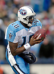24 December 2006: Tennessee Titans quarterback Vince Young (10) sets to make a handoff against the Buffalo Bills at Ralph Wilson Stadium in Orchard Park, New York. The Titans edged out the Bills 30-29.&amp;#xA; &amp;#xA;Mandatory Photo Credit: Ed Wolfstein Photo<br />