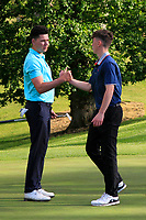 Peter McKeever (Castle) wins on the 18th during Round 4 of the Connacht Stroke Play Championship 2019 at Portumna Golf Club, Portumna, Co. Galway, Ireland. 09/06/19<br /> <br /> Picture: Thos Caffrey / Golffile<br /> <br /> All photos usage must carry mandatory copyright credit (© Golffile | Thos Caffrey)