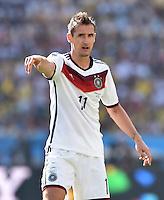 FUSSBALL WM 2014                VIERTELFINALE Frankreich - Deutschland           04.07.2014 Miroslav Klose (Deutschland)