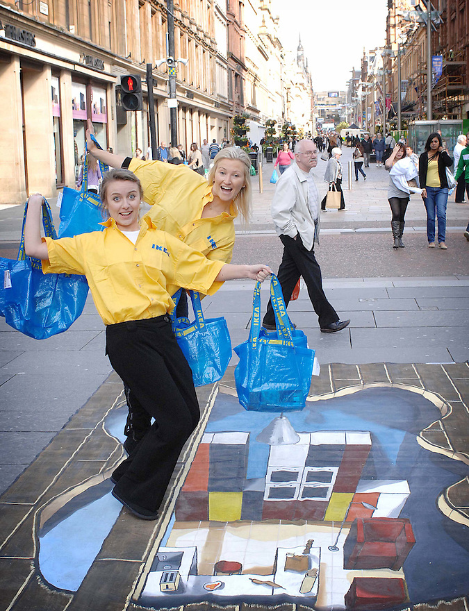 To celebrate the launch of the new catalogue IKEA brought the pages to life on the streets of Glasgow....
