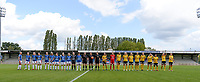 20190807 - DENDERLEEUW, BELGIUM : illustration picture shows both teams during the line up of the female soccer game between the Norwegian LSK Kvinner Fotballklubb Ladies and the Northern Irish Linfield ladies FC , the first game for both teams in the Uefa Womens Champions League Qualifying round in group 8 , Wednesday 7 th August 2019 at the Van Roy Stadium in Denderleeuw  , Belgium  .  PHOTO SPORTPIX.BE for NTB  | DAVID CATRY
