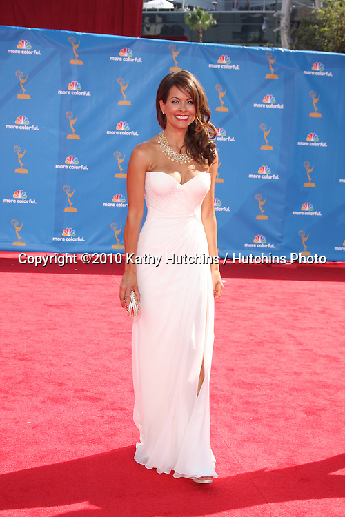 LOS ANGELES - AUG 29:  Brooke Burke arrives at the 2010 Emmy Awards at Nokia Theater at LA Live on August 29, 2010 in Los Angeles, CA